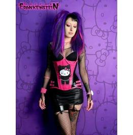 Dr. Frankenstein Ninja Hello Kitty Underbust Corset