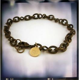 Brass Chain Layering Bracelet Mens Chain Bracelet Unisex Chain Bracelet
