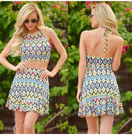 Summer Casual Sleeveless Evening Party Beach Dress Short Mini Dress