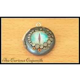 Blue & Silver Dragons Eye Necklace