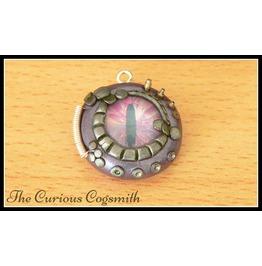 Purple & Silver Dragons Eye Necklace