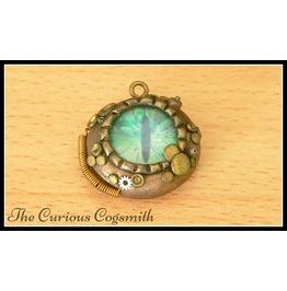 Green & Bronze Dragons Eye Necklace