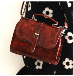 New Personality Retro Leather Handbag Messenger Mobile Shoulder Bag