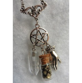 The Fortune Teller Necklace, Psychic, Medium, Gypsy, Wicca, Pentacle, Magic