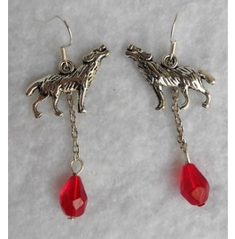 The Werewolves Earrings Gothic, Wolf, Mystical, Elven, Blood, Got, Snow