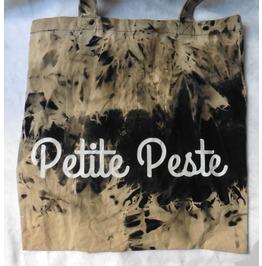 Petite Peste Tie Dye Tote Bag, Wicca, Esoteric, Gothic, French, Boho, Gypsy