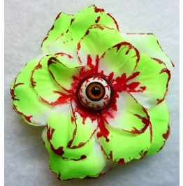 Dexter's Eye Rose Hair Clip Gothic, Zombie, Blood, Anatomy, Killer