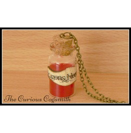 Dragons Blood Potion Bottle Necklace