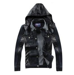 Denim Jacket Removable Hoodie