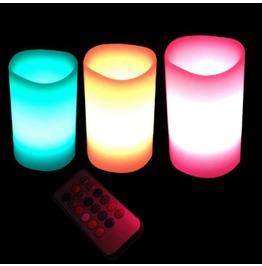 Home Decor Electric Flameless Candles 3 Pc. Set D3