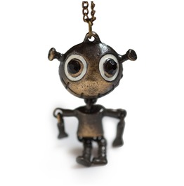 Alien Necklace Vintage Finish