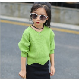 Autumn New Girls Hedging In Children Knitted Top Sweater