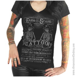 Earn Scars Women's V Neck Tee