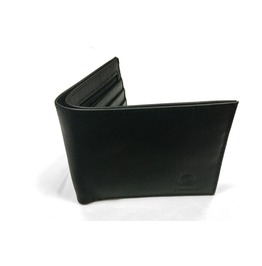 Gamuzzi Mens Classic Black Leather Wallet