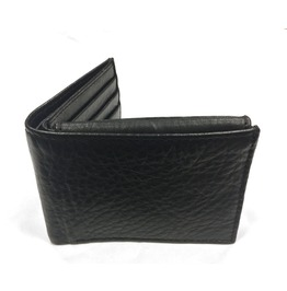 Gamuzzi Mens Granulated Leather Wallet