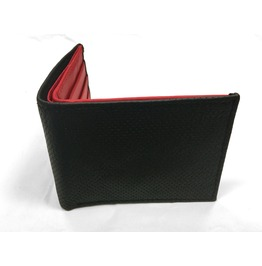Gamuzzi Mens Microperforated Leather Wallet W/ Red Lining