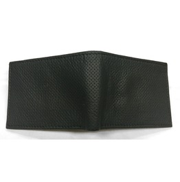 Gamuzzi Mens Microperforated Leather Wallet W/ Black Lining