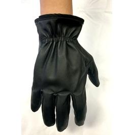 Gamuzzi Black Leather Gloves