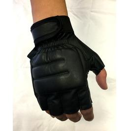 Gamuzzi Padded Fingerless Leather Gloves