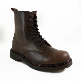 Panam Women's Vegan 7 Eye Brown Combat Boots
