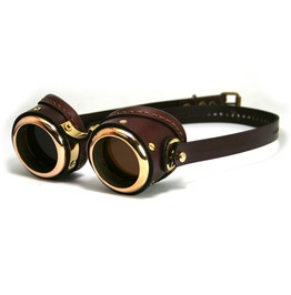 """Smpl Solid"" Goggles Polished Brown"