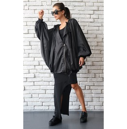 Loose Maxi Coat/Extravagant Oversize Jacket/Black Long Blazer/Plus Size Top