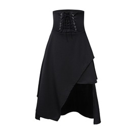 Lolita Gothic Long Skirts Womens Vintage Bandage Skirt