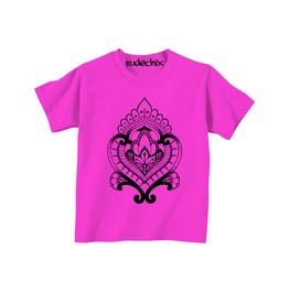 Kid's Pink Mehndi Heart Tee