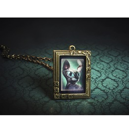 Smeagol The Sphynx Cat Drawing Necklace