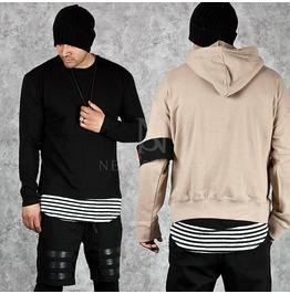 Striped Round Hem Accent Layering T Shirts 579