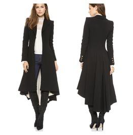 Simple Metal Lapel Suit Cuff Fold After Dovetail Woolen Coat Coat Tide