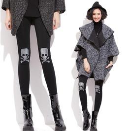 Slim Pants Thick Winter Skull Female Models Warm Leggings