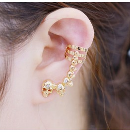Punk Skull Earrings Ear Hook Ear Clip
