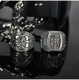 Engraved Metal Wide Ring 27