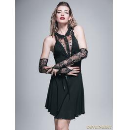 Black Gothic Sexy Short Dress