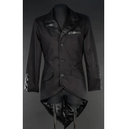 Gentlemans Black Steampunk Tailcoat Jacket $6 To Ship Worldwide