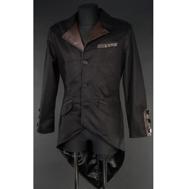 Gentlemans Black Brown Steampunk Tailcoat Jacket $6 To Ship Worldwide