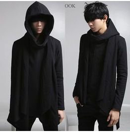Personalized New Fashion Men Black Hoodies