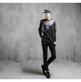 Autumn Fashion Spliced Style Crewneck Sweatshirts