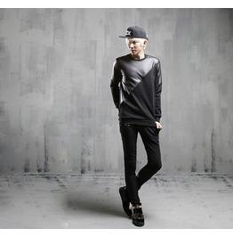2016 Autumn Fashion Spliced Style Crewneck Sweatshirts