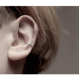 1 Piece New Punk Fashion Cross Ear Clip