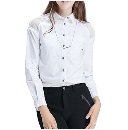 Cotton Shirt Mesh Shoulders