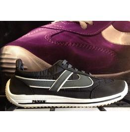Panam Black & Grey Unisex Vintage Style Sneaker