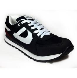 Panam Black & Red Crosstrainer Unisex Sneaker