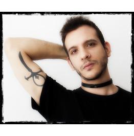 Black Leather Choker, Bdsm Leather Collar, Gothic Black Choker