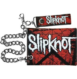 Official Slipknot Chain Wallet Scratched Group