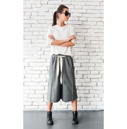 Grey Maxi Pants/Unisex Loose Pants/Drop Crotch Trousers/Grey Harem Pants