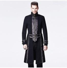 Punk Rave Gothic Men's High Collar Overcoat Y 589