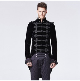 Punk Rave Men's Victorian Gothic Swallow Tail Coat Black Y 593