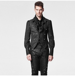 Punk Rave Men's Gothic Swallow Tail Embossed Vest/Waistcoat Y 600